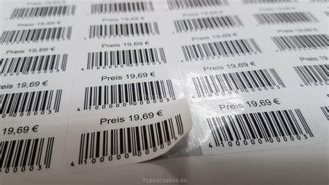 Barcode Etiketten Aufkleber by Barcode Etiketten 38x21 Mm Pet Wasserfest Ean 13 Code 39 Usw
