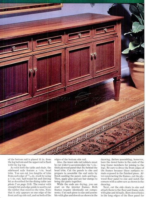 sideboard plans woodarchivist