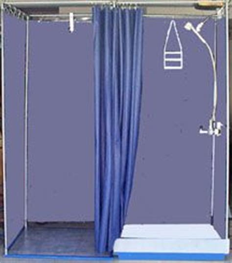 portable office shower with dressing room extension they