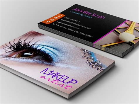 makeup artist name card template makeup artist business cards mugeek vidalondon