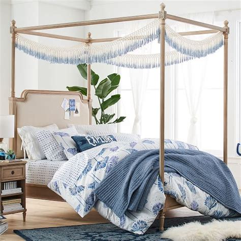 Colette Canopy Bed Set Pbteen Canopy Bedding Sets