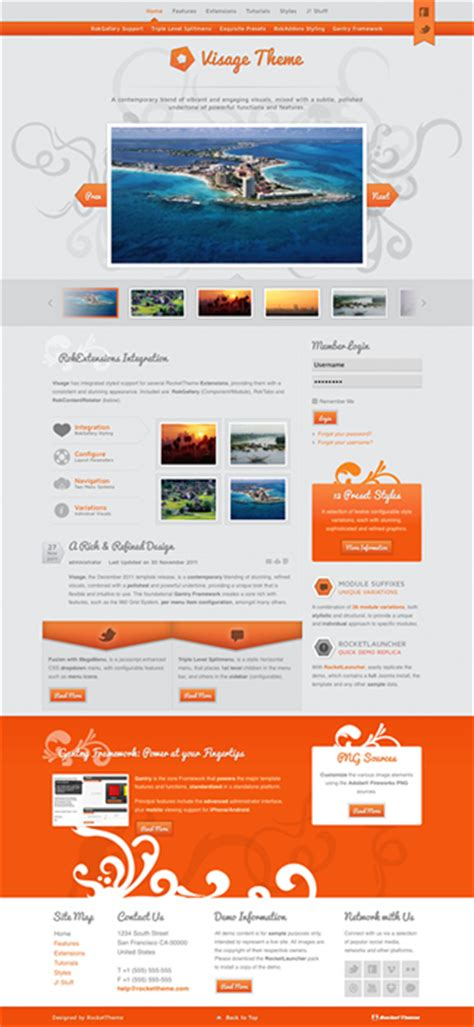 joomla photographer template joomla 2 5 photography portfolio template visage