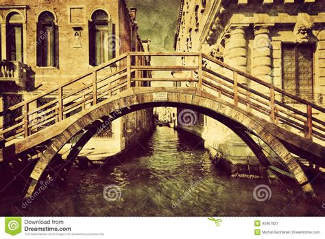 imagenes vintage italia venice italy vintage canvas a romantic bridge stock