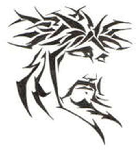 jesus tribal tattoos jesus stencil www pixshark images galleries