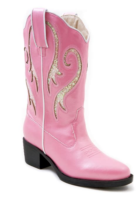 children s cowboy boots nib roper pink faux leather cowboy boots narrow