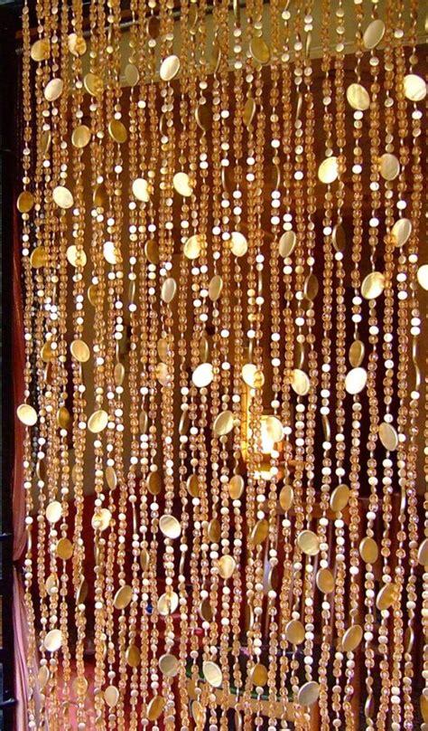 gold beaded curtain new chagne acrylic crystal gold disc bead curtain
