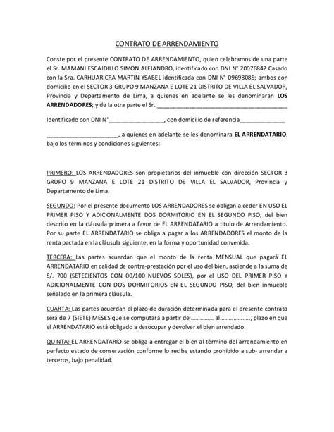 contratos de arrendamiento de pisos contrato de arrendamiento primer piso