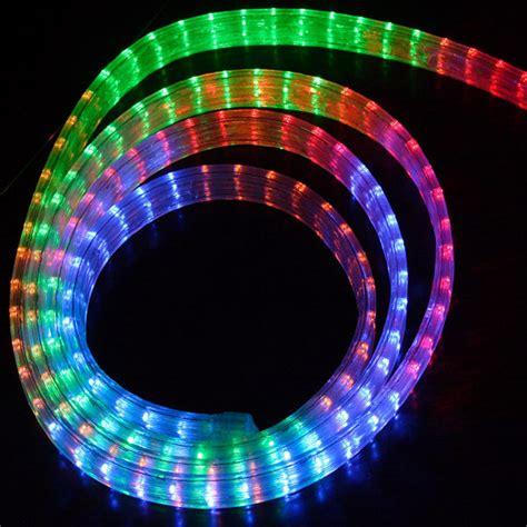 rgb color changing 5 wire flat led rope light w