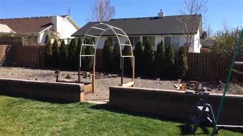 easy build garden arch trellis youtube