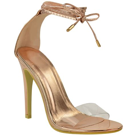 High Heels Sandal Selop Br new womens high heel perspex ankle strappy
