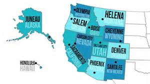 us map with states capitals and abbreviations quiz western capitals states