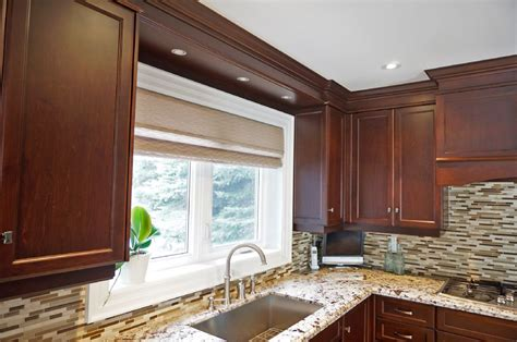 wood valance kitchen sink nobleton kitchen renovation custom kitchen design ideas