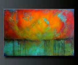 Painting A Mural On A Wall With Acrylic Paint Abstract Acrylic Painting Contemporary Wall Art Www