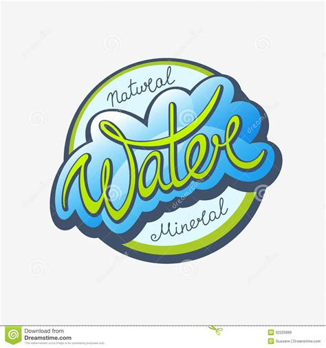 water calligraphic label royalty free stock images image