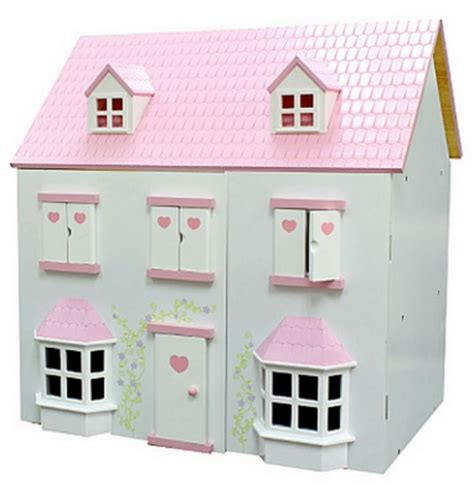 girls wooden dolls house wooden dolls house 163 20 asda direct
