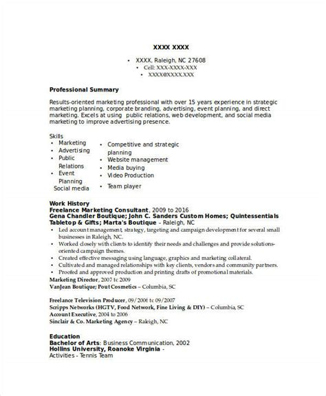 28 freelance marketing resume marketing resume exles 50