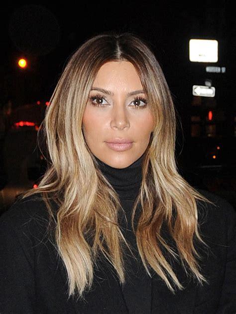 kim kardashians new hair color will make you do a double take kim kardashian s blonde hair get her shiny locks for