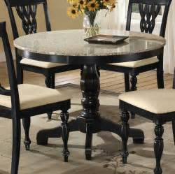 Granite Top Dining Room Table by Hillsdale Embassy Round Pedestal Table With Granite Top Hd