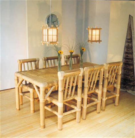 bamboo dining room table indonesia bamboo dining room furniture