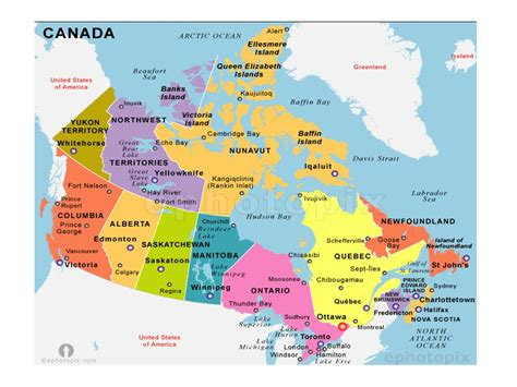 map of canada with major cities canada map with cities www pixshark images
