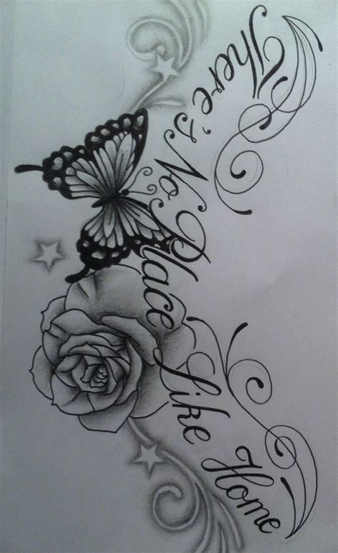 text tattoo design butterfly chest design with text by