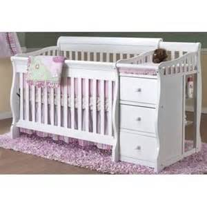 Baby Bed With Attached Changing Table White Crib With Attached Changing Table Kiddies Furniture And Accessories