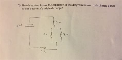 how does it take to charge a capacitor how does it take the capacitor in the diagram chegg