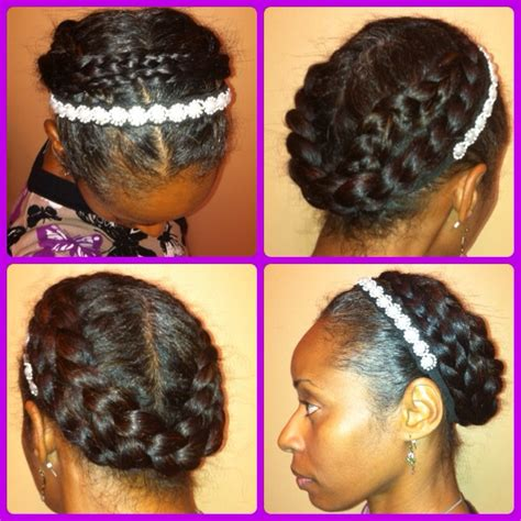 halo crowngoddess braids on natural hair black girl with halo braids for black women newhairstylesformen2014 com