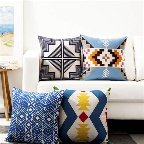 kilim geometric linen cotton pillow cover home decor