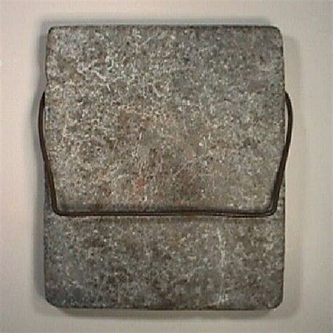 American Soapstone American Soapstone Warming Slab With Iron Handle From The