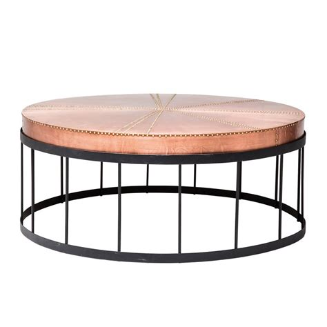 Salontafel Rond Koper by Ronde Salontafel Van Koper Kare Design Rivet Copper