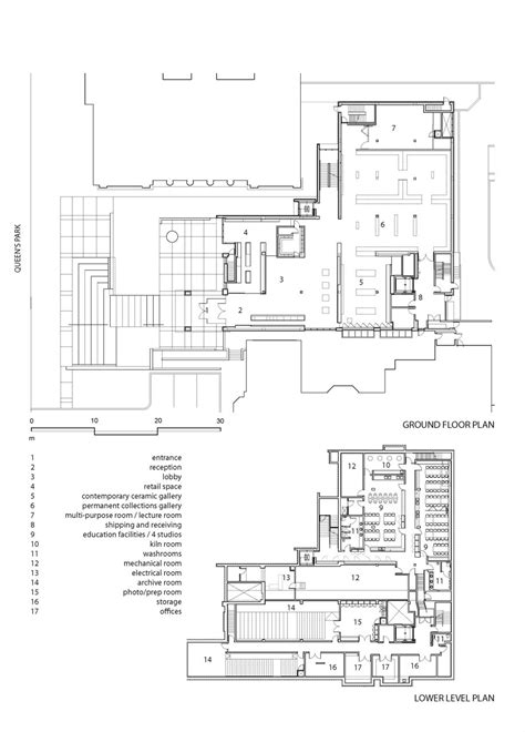 museum floor plans gallery of the gardiner museum kpmb architects 17