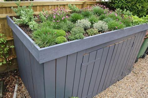 wheelie bin shelters  plants