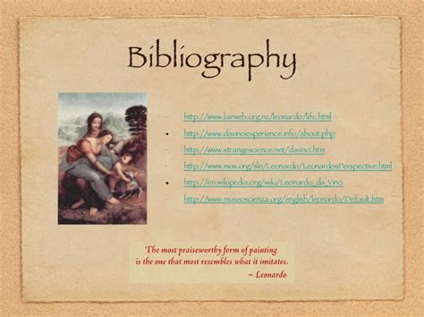 leonardo da vinci biography citation leonardo da vinci ppt