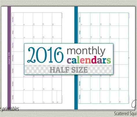 new half size printable planners for 2015 calendar printables archives scattered squirrel