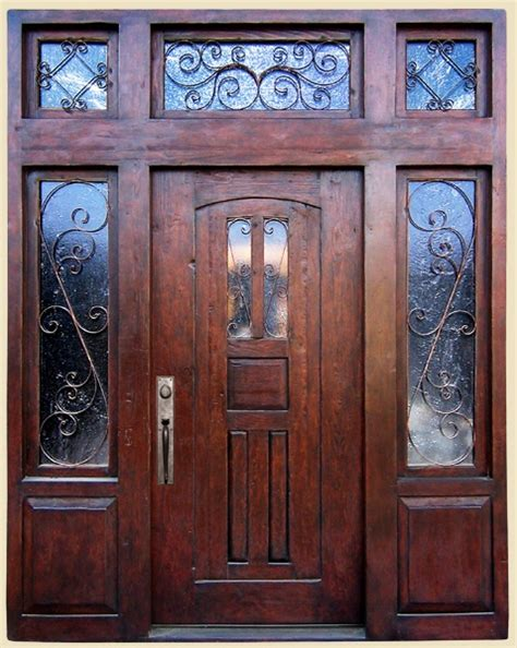 Douglas Fir Exterior Doors Front Entry With Transom Sidelites Constructed With Antique Door Antique Panels And Reclaimed