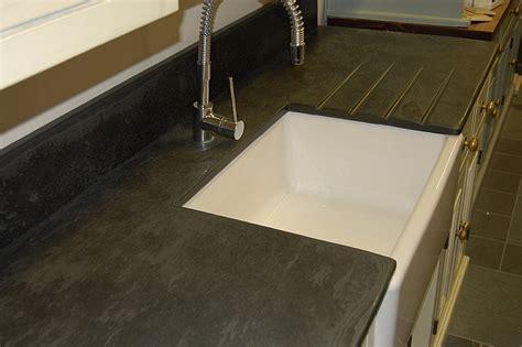 Kitchen Island Custom photographs of slate kitchen worktops work surfaces sink