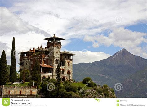 famous italian architects building of italian architecture at lake como editorial