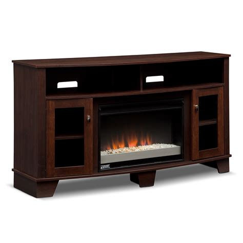 vernon fireplace tv stand with contemporary insert