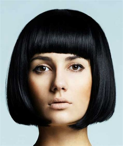 jaw length haircuts no bangs chin length bob with bangs the best short hairstyles for