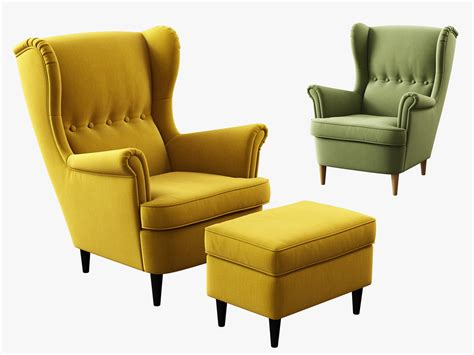 strandmon ikea 3d model ikea strandmon wing chair ottoman