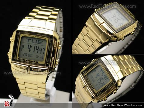 Jam Tangan Casio Db 360 Gold buy casio gold plated data bank db 360g 9a db360g 9a buy watches casio deer