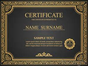 gorgeous gold certificate design vector over millions