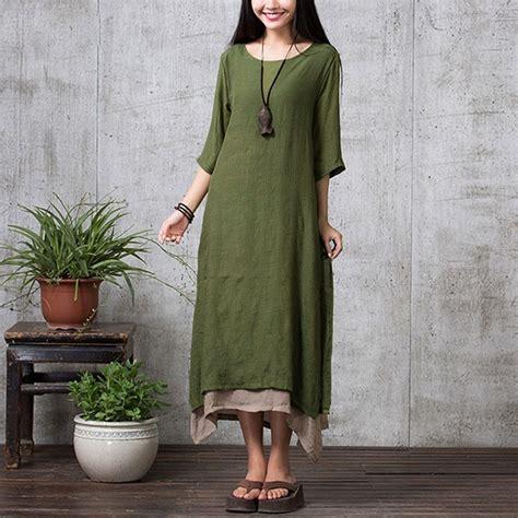 xxxxl fashion vintage autumn dress 2017 casual maxi dresses boho