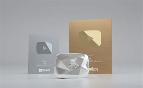 youtube gives new diamond play button to channels with 10 new silver and gold play buttons youtube forum the 1