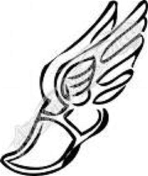 track and field tattoo designs winged foot track shoe ideas