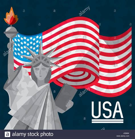 statue of liberty and flag statue of liberty flag stock photos statue of liberty