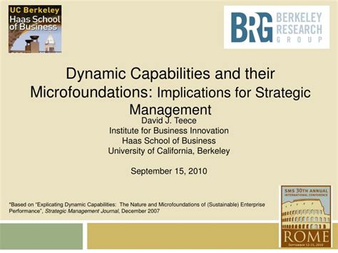 Ppt Dynamic Capabilities And Their Microfoundations Dynamic Presentation Ideas