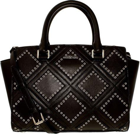 Michael Kors Selma Gromet Medium michael kors selma medium grommet leather satchel black ebay