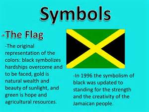 what does the colors of the flag jamaica